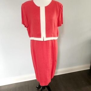 Talbots Short Sleeve Coral Pink Dress 18